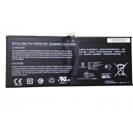 BTY-S1J 3.7V 33.3Wh 9000Wh Battery for MSI W20 3M-013US Series